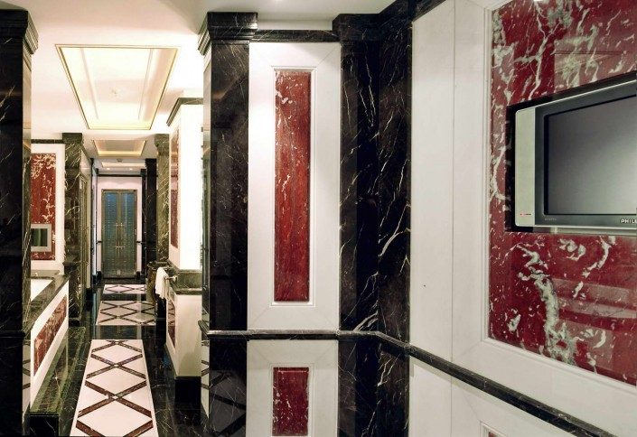 Adlon Hotel Berlin President Suite, Noir St Laurent, France Red, Thassos