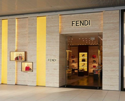 Fendi Boutique in Istanbul, Turkey, floors, internal and external wall cladding