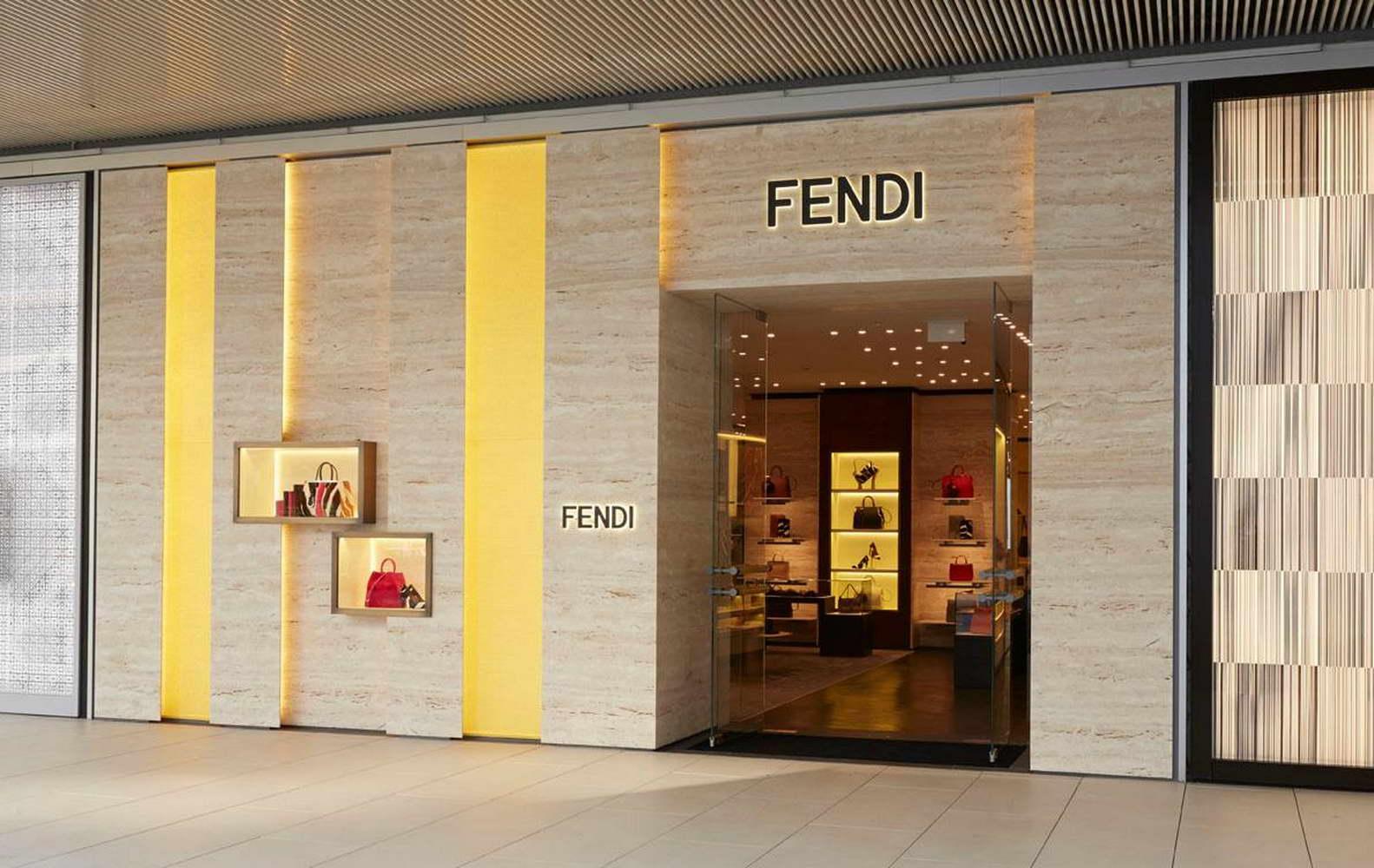 Fendi Boutique Istanbul Turkey Floors Wall Cladding Shelves