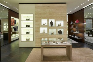 Fendi Boutique in Istanbul, Turkey, marble wall cladding
