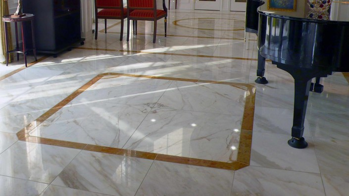Hotel Caldia Marble Floors, Walls Cladding and Stairs
