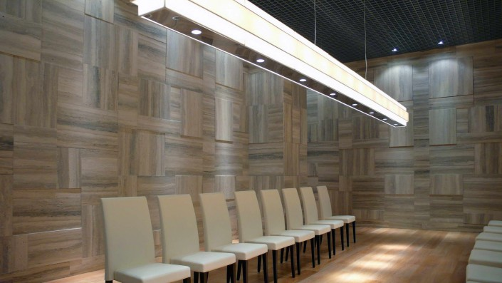 Luxury Room realizzazione rivestimento pareti in travertino silver - 2