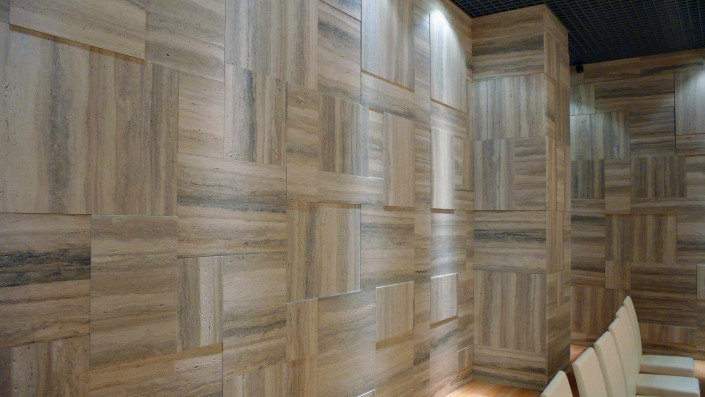 Luxury Room silver travertine wall cladding