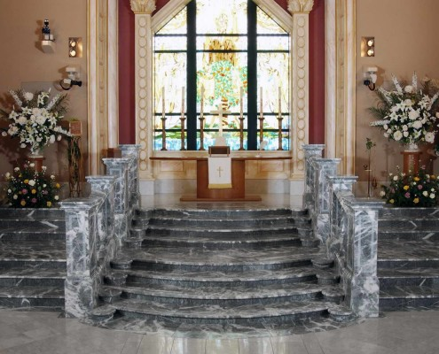 Staircase, Balustrade, Marble Flooring, Backlit Onyx