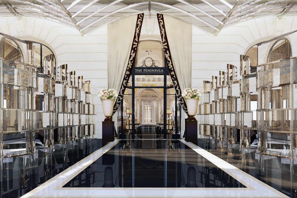 Hotel peninsula   parigi, pavimenti, scale, rivestimenti, bagni