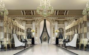 Hotel Peninsula Paris Floors, Marble Fireplace, Carrara Marble