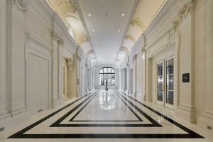 Hotel Peninsula, Paris, Nero Marquina, Bianco Carrara, Statuarietto