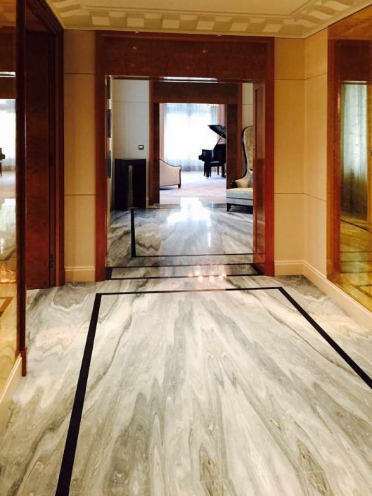 Hotel Peninsula Palissandro, Nero Marquina, marmo Bianco Carrara - 1
