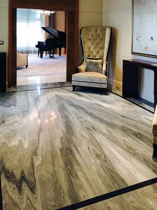 Hotel Peninsula Palissandro, Nero Marquina, marmo Bianco Carrara - 2