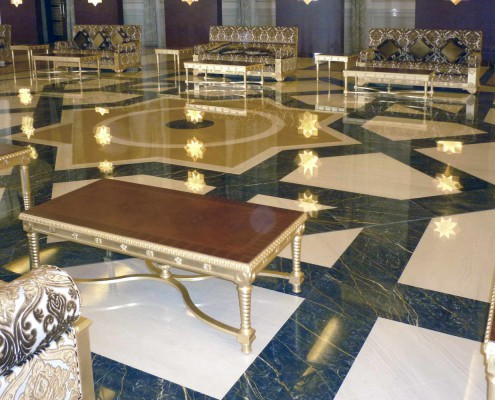 Presidential Area Airport, Marble Floors, Marble Rose Windows