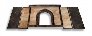 Brown Marble Fireplace