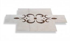 inlaid marble floor design
