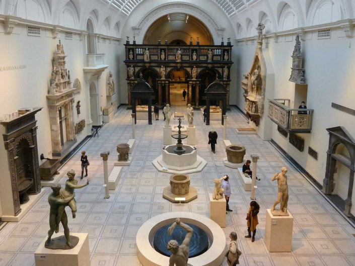 Victoria and Albert Museum, London, Marble Floors, Marble Stairs