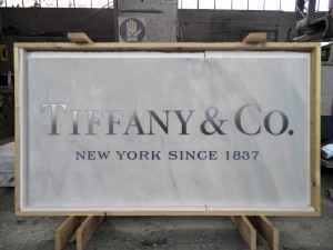 Water-Jet Marble Cutting - Tiffany & Co.