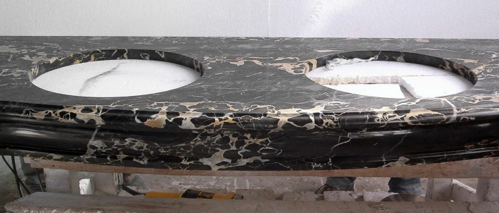 Portoro Marble Sink, Washbasin