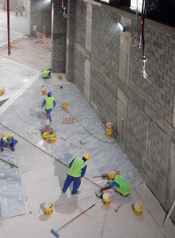 posa in opera pavimento in marmo 4