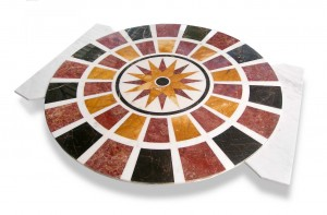 Pre-Laying Marble Medallion and marble flooring waterjet cutting