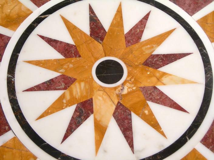rosone - stella centrale in marmo