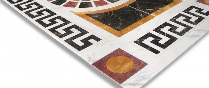 Pre-Laying Marble Medallion