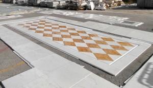 versace - pre posa pavimento marmo