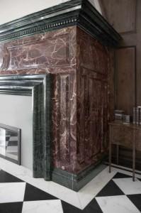 Statuario, Travertino Noce, Rosso Levanto, Verde Alpi, Port Laurent