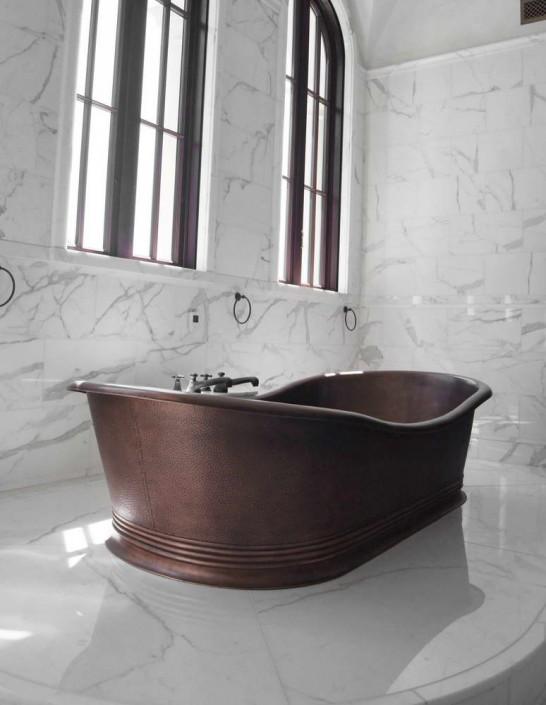 Villa Privata Usa rivestimento pareti bagno in marmo