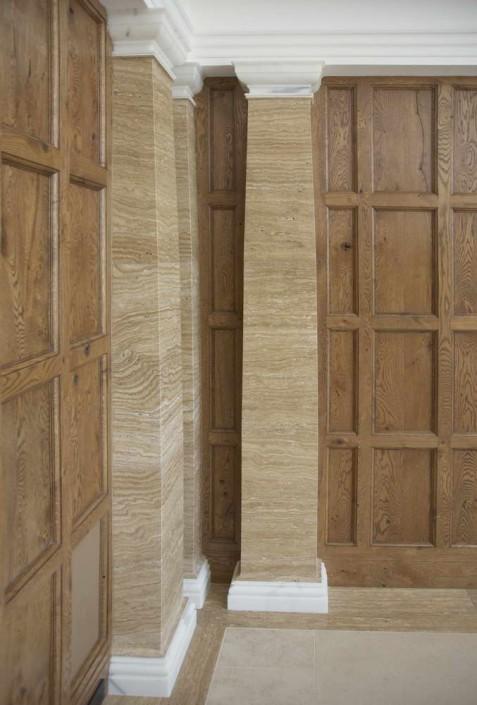 Villa Privata Usa colonne quadrate in marmo