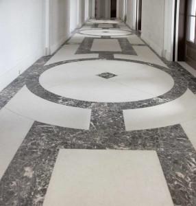 Villa Privata Usa Pavimento Corridoio in Marmo