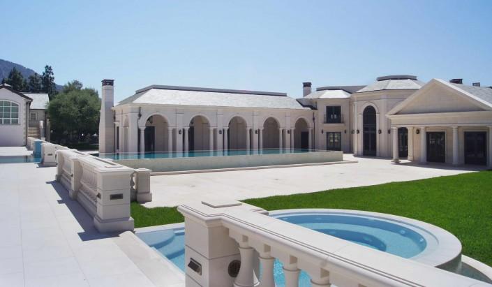 Villa Privata Usa Balaustra Parapetto in Marmo