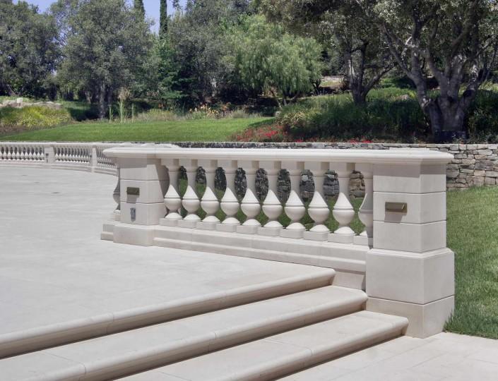 Villa Privata Usa balaustra marmo