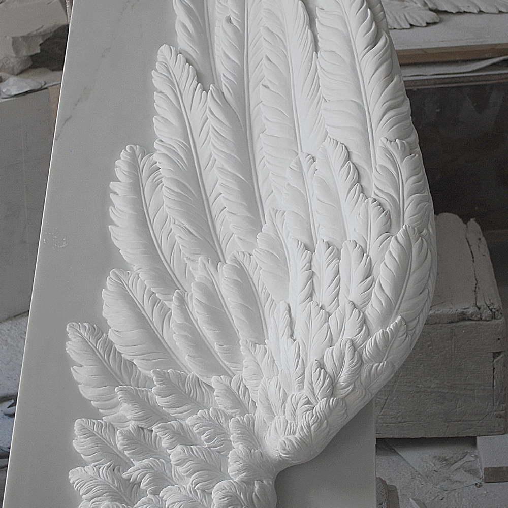 Ali in marmo bianco di carrara for Marmo di carrara prezzo
